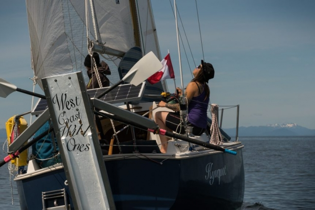 race to alaska, r2ak, ketchikan, team west coast wild ones, liv von oelreich