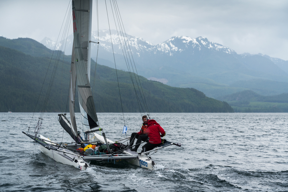 r2ak, race to alaska, team ketch me if u can, nacra, liv von oelreich, johnstone strait